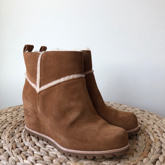 0fe3bcf78fb Ugg Marte Wedge Boots In Chestnut